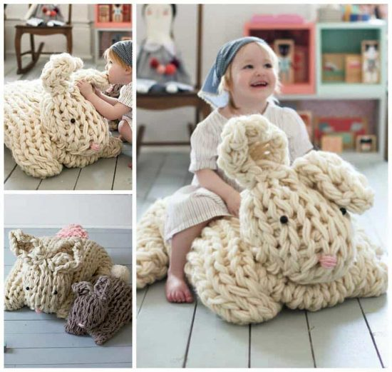 Giant Arm Knitted Bunny