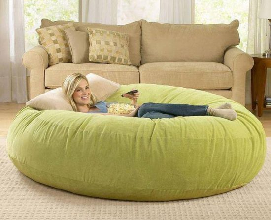Giant floor pillows for lounging around the whoot giant bean bag chair tyukafo