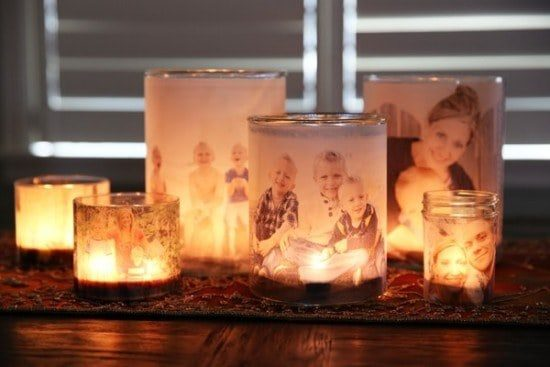Glowing Family Photo Luminaries - the whoot