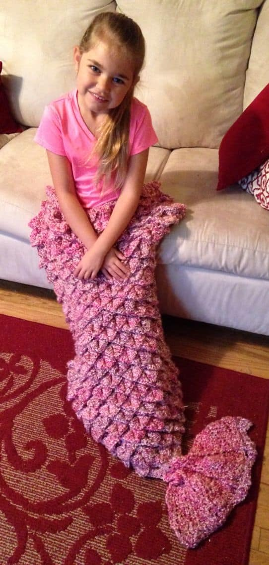 Crocodile Stitch Mermaid Blanket