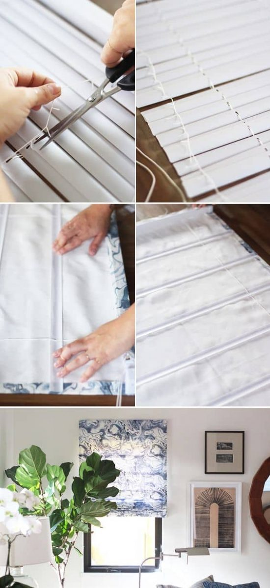No Sew Faux Roman Blinds Ideas Video Instructions