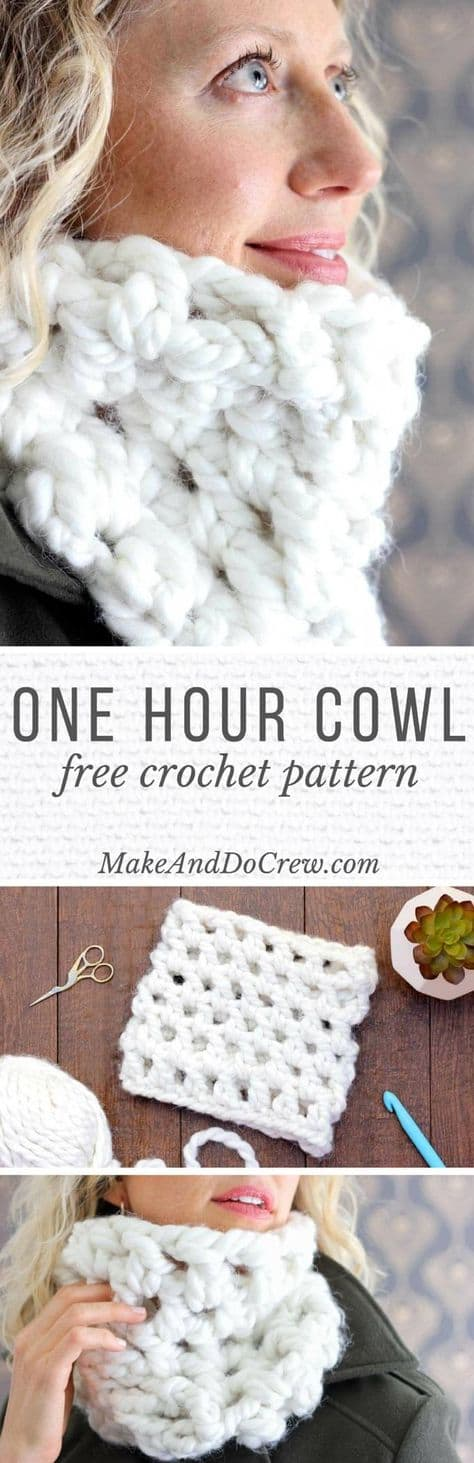 One Hour Cowel Free Pattern