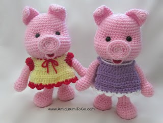 Piglet Amigurumi Free Pattern : Crochet pig pattern video tutorial lots of cute ideas