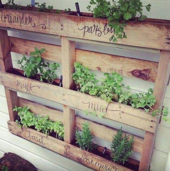 Pallet Herb Planter Box Easy Video Instructions Lots Of Ideas