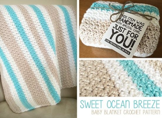 Sweet Ocean Breeze Baby Blanket Free Crochet Pattern