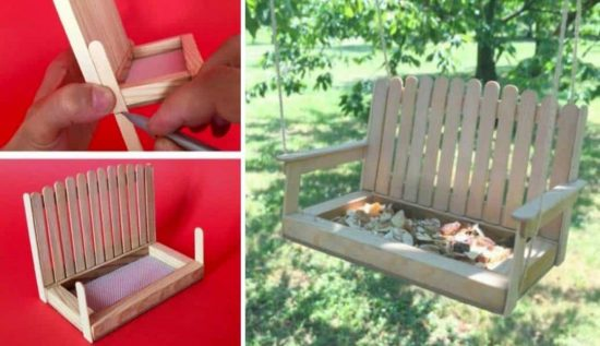 Swing Bench Popsicle Bird Feeder