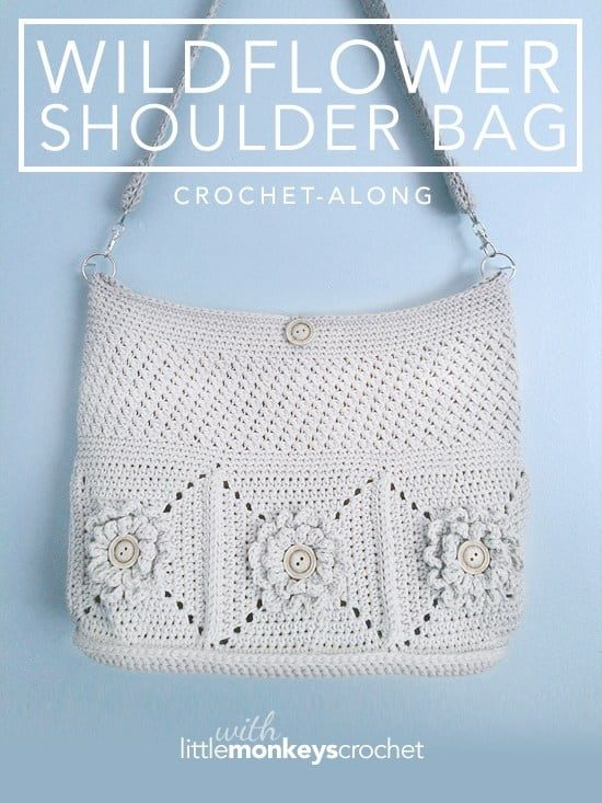 Wildflower Crochet Shoulder Bag Free Pattern