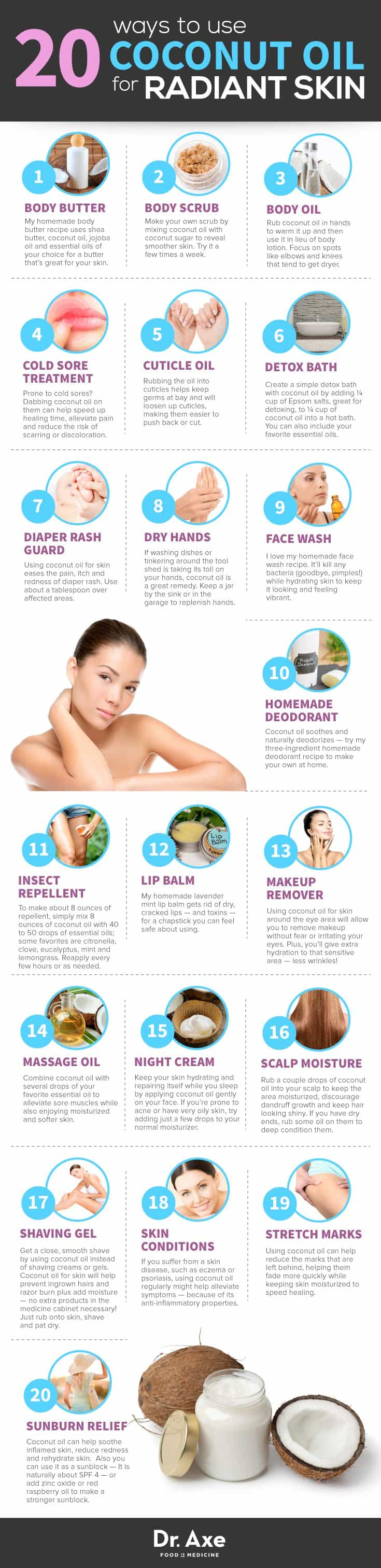 20 Radiant Ways To Use Coconut Oil For Radiant Skin