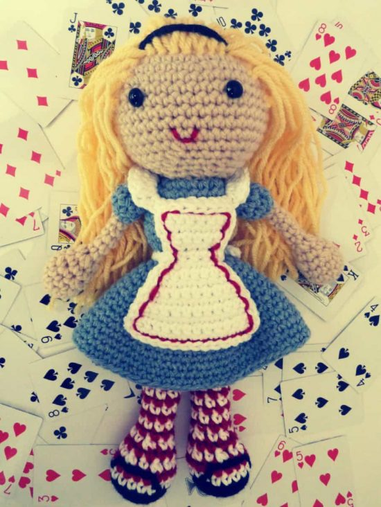 Alice In Wonderland Crochet Doll Free Pattern