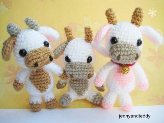 Baby Cow Free Crochet Pattern