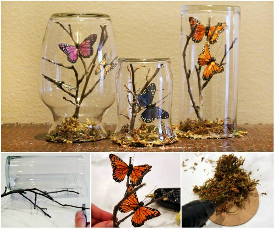 Butterfly Glass Jars The WHOot