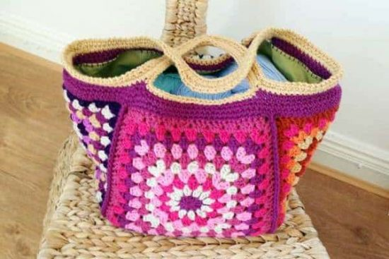 Chunky Retro Crochet Bag Free Pattern