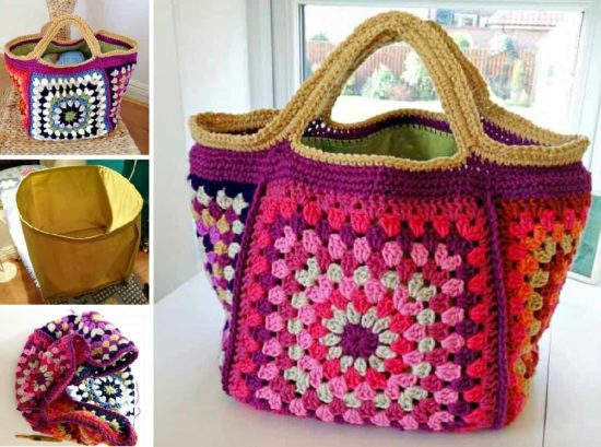 Granny Square Crochet Bag Free Pattern The Whoot