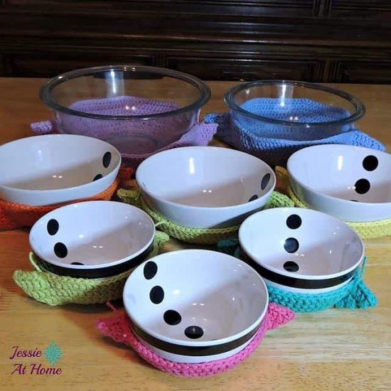 Crochet Bowl Cozies Microwave Safe Free Pattern