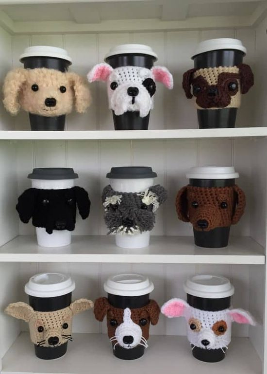 Crochet Dog Cup Cozies