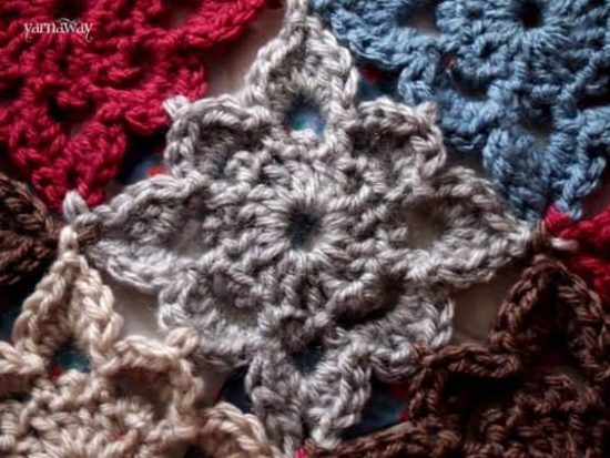 Crochet Flower Square Free Pattern