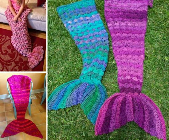 Crochet Mermaid Tail Afghan Blankets Free Patterns
