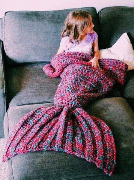 Crochet Mermaid Tail Blanket Pattern