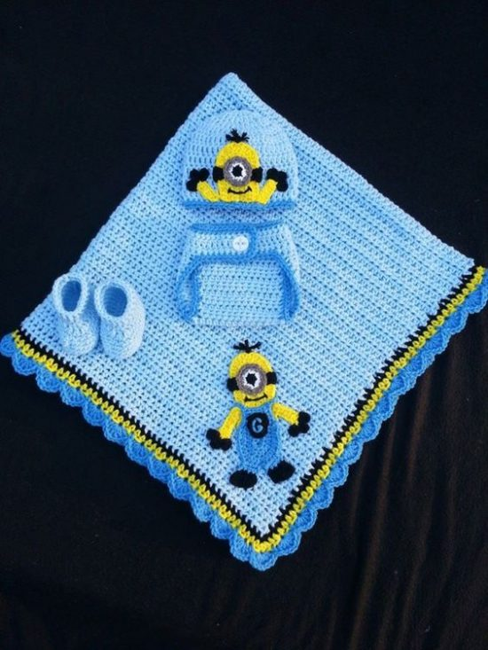 Crochet Minion Baby Set