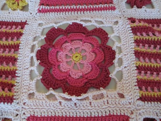 Crochet Orange Blossom Square Free Pattern