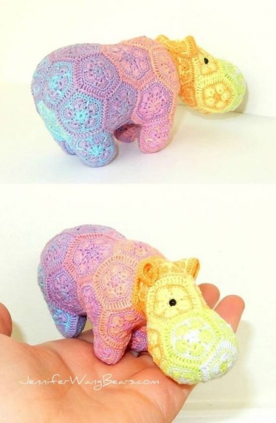 Crochet Hippo Pattern Ideas Best Collection | The WHOot | 844x550