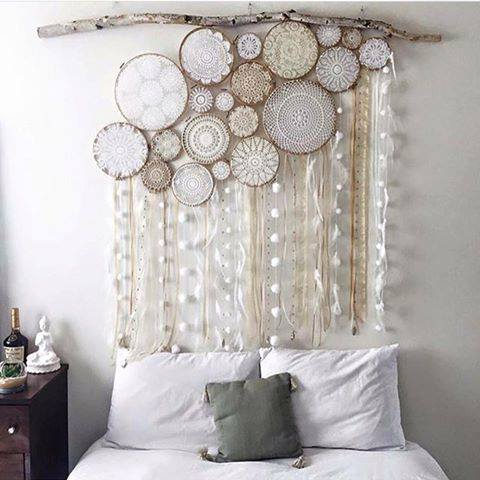 Dream Catcher Above Bed Doily Dream Catchers The Best Collection Of Ideas The WHOot 17
