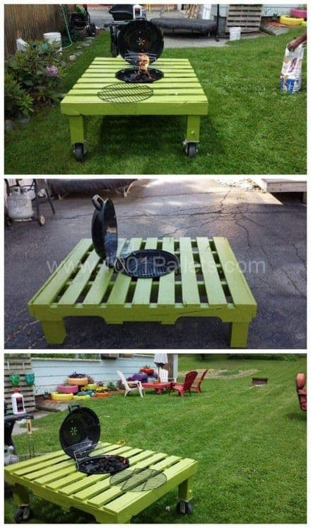 Fire Pit Pallet Table Tutorial