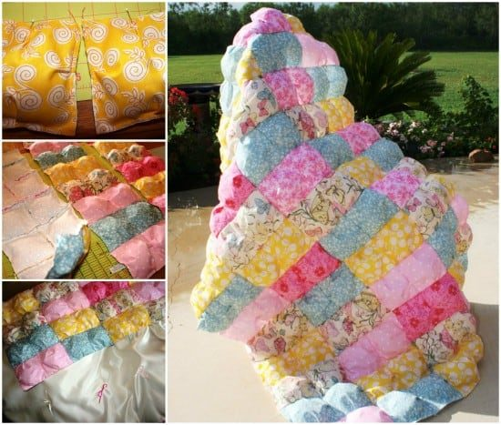 Puff Quilt Comforter Youtube Tutorial Video Instructions Awesome Puff Quilt Patterns