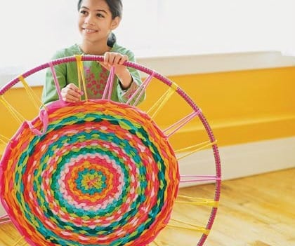 Hula Hoop T Shirt Rug Instructions
