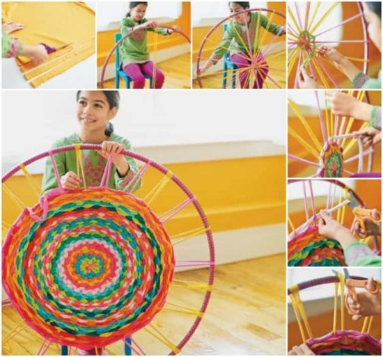Hula Hoop Tshirt Rug Instructions 1