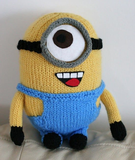Minion crochet pattern pinterest top pins cutest ideas knitted minion free pattern dt1010fo