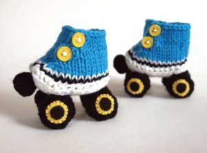 Knitted Skate Booties Free Pattern