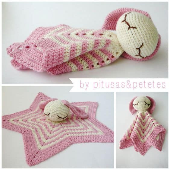 Lamb Crochet Security Blanket Free Pattern