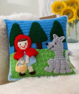 Little Red Riding Hood Croche Pillow Free Pattern