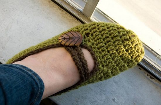 Mary Jane Crochet Slippers Free Pattern