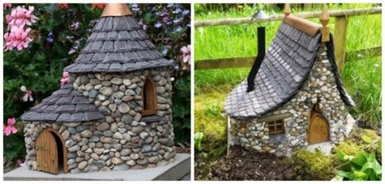Miniature Stone Fairy Cottages