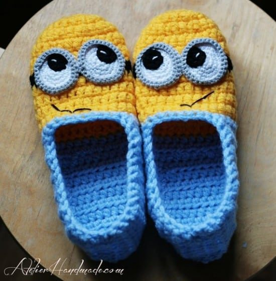 Minion Crochet Slippers Pattern