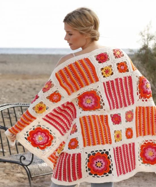 Orange Blossom Crochet Blanket