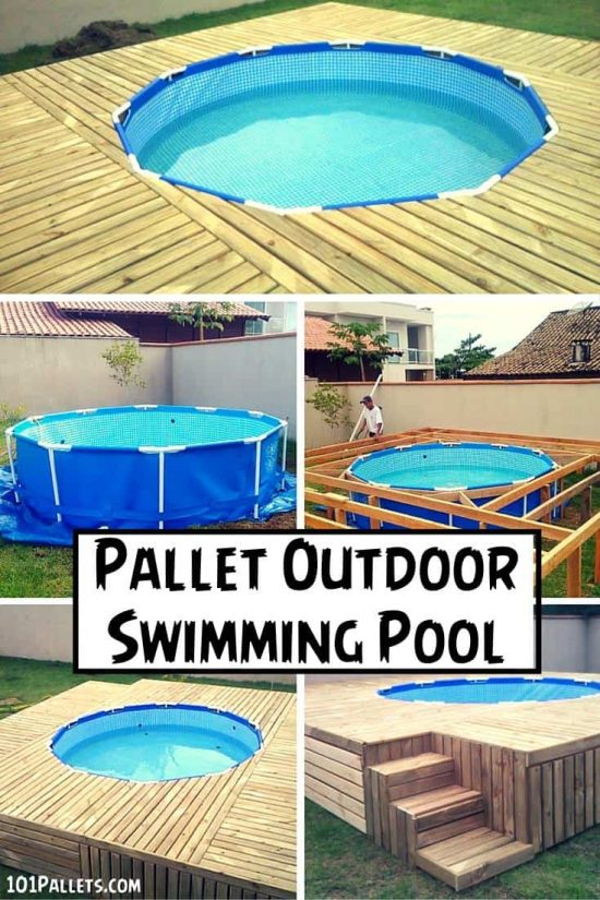 Pallet Outdoor Swimming Pool
