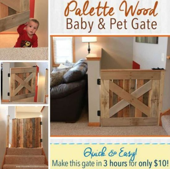 Pallet Wood Baby and Pet Gate Free Plans