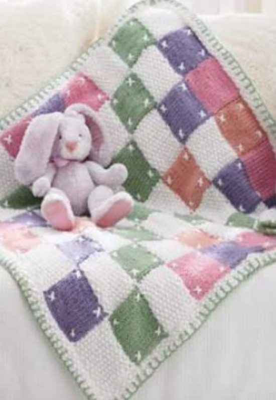 Patchwork Quilt Baby Blanket Free Pattern