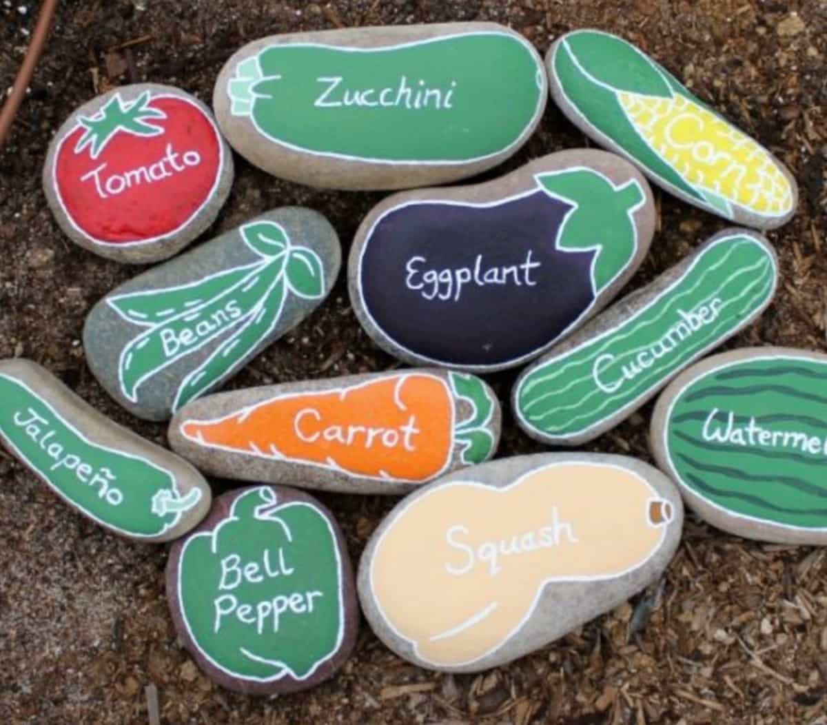 Painted Rock Garden Markers Tutorial The Whoot