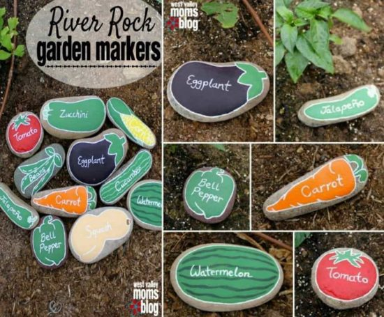River Rock Garden Markers