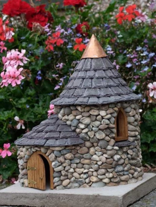 The sweetest stone fairy house ideas the whoot - Houses made from natural materials ...