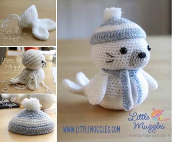Sammy The Seal Amigurumi Free Crochet Pattern