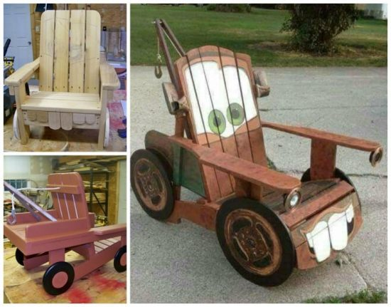 Tow Mater Pallet Chair Tutorial