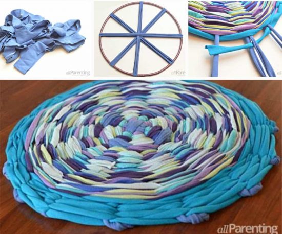 Tshirt Hula Hoop Rug Instructions