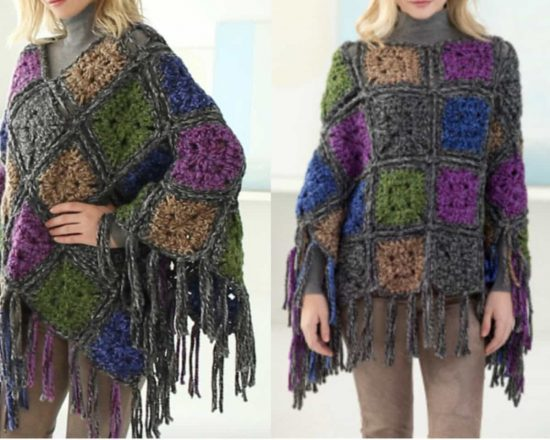Wicker Park Poncho Free Crochet Pattern