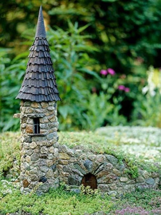 The Sweetest Stone Fairy House Ideas | The WHOot