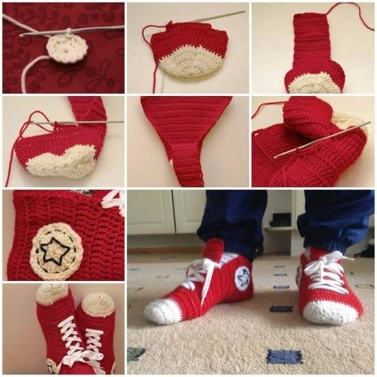 Crochet Converse Slippers Free Pattern